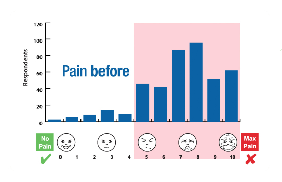 ENAR Survey Graphs Pain Before